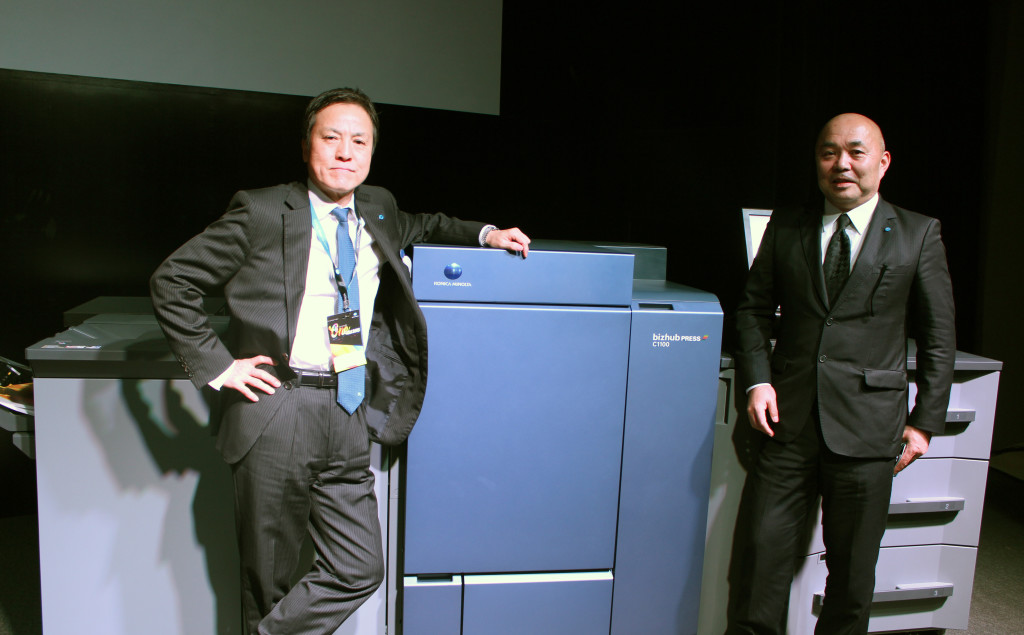 Sr. Haraguchi e sr. Takahito Mitsuhashi, presidente da Konica Minolta Business Solutions do Brasil