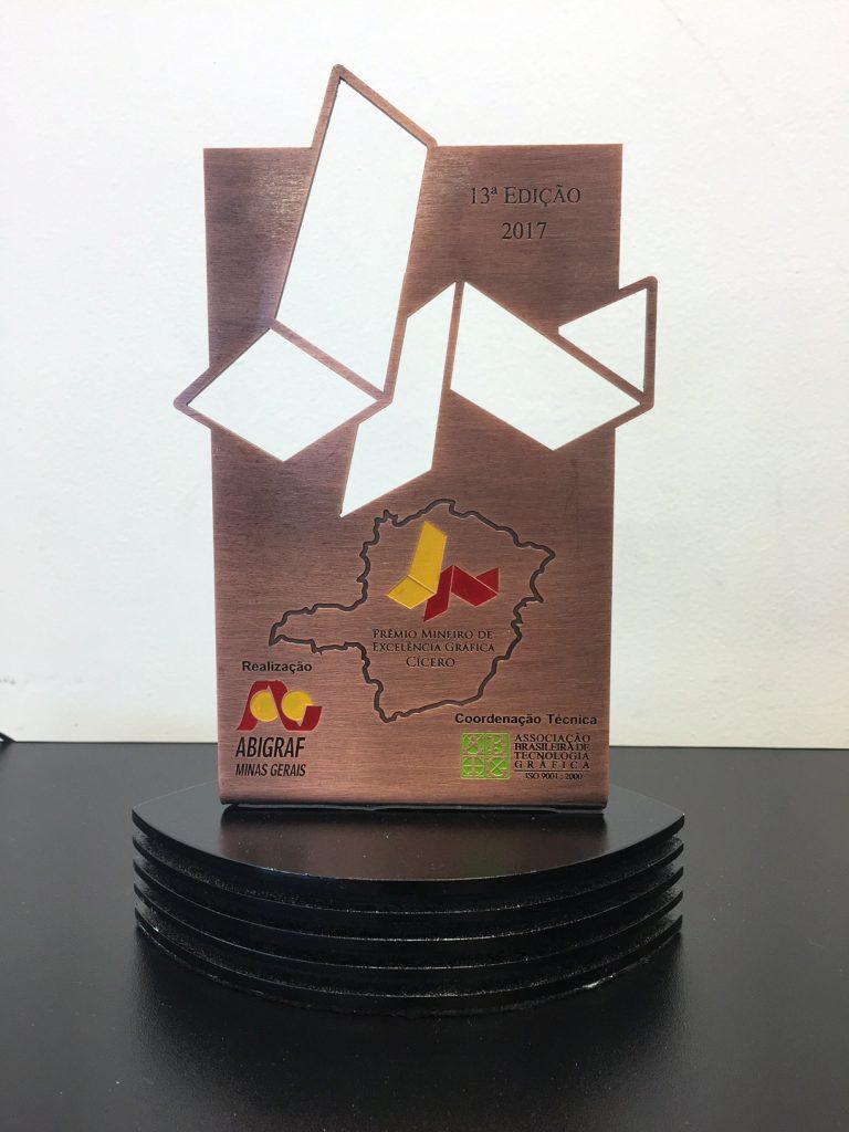 Troféu prêmio cícero